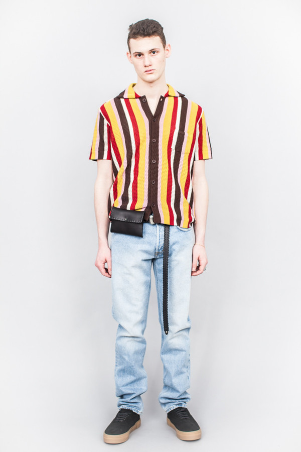 71a1b586ea CMMN SWDN Wes Knitted Striped Shirt Multicolour. sold out. CMMN SWDN