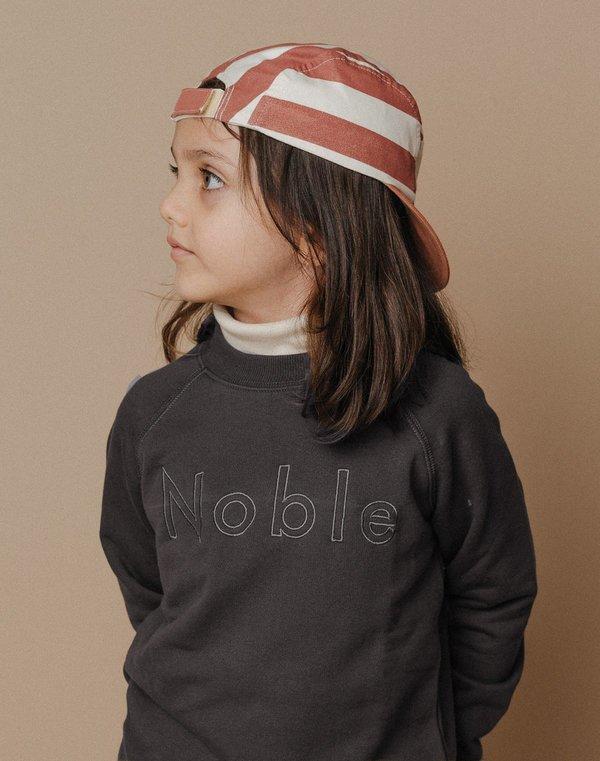Kids Noble Embroidered Sweatshirt - Charcoal
