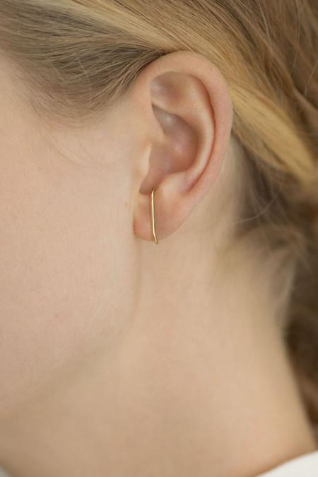 Kathleen Whitaker Medium Stitch Earring (Single) - 14k Yellow Gold
