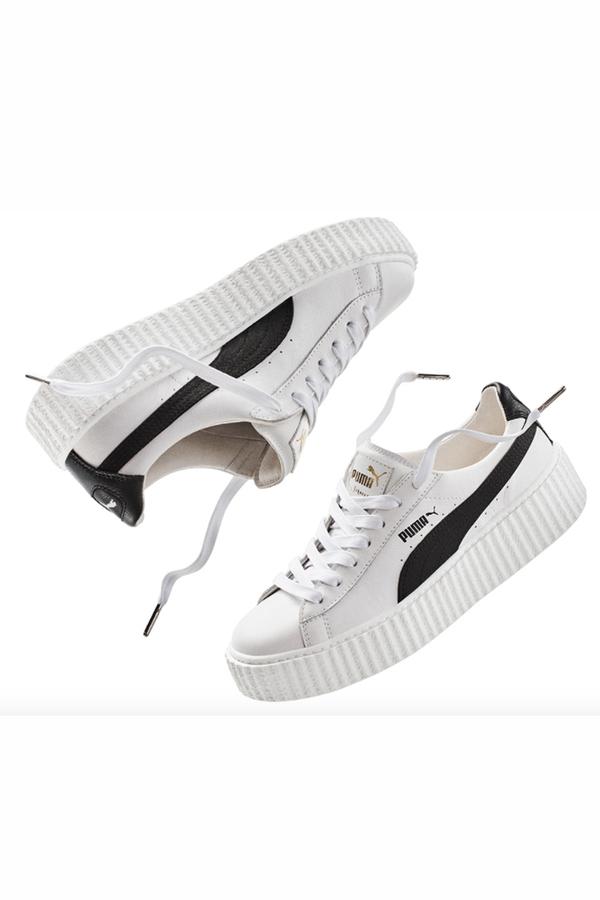 reputable site da7a7 0adc9 PUMA Rihanna Fenty Creeper- White/Black