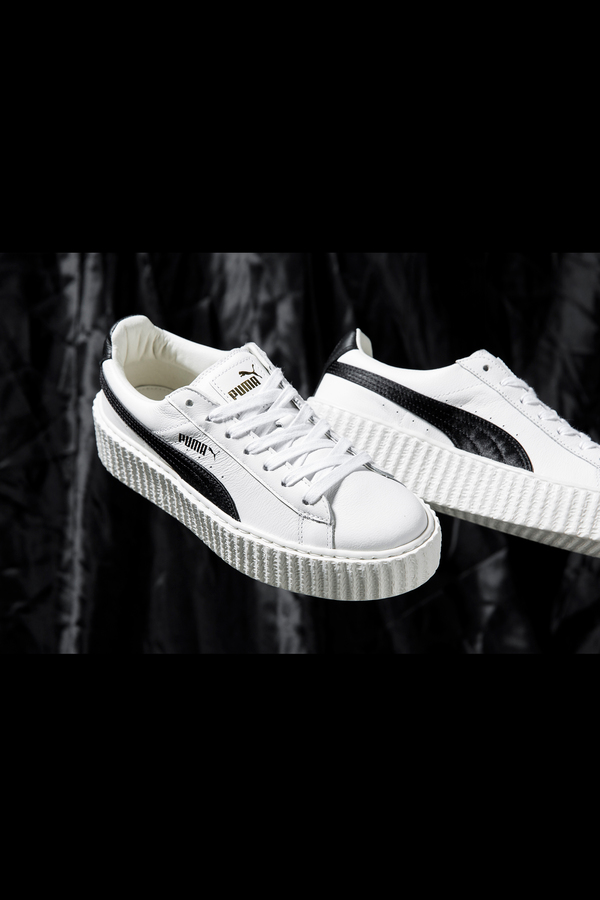reputable site fc82d 38796 PUMA Rihanna Fenty Creeper- White/Black