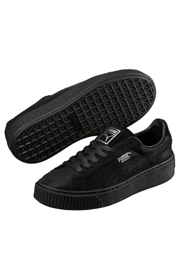 Buying Cheap Women Puma Basket Platform Reset P Black Shoes