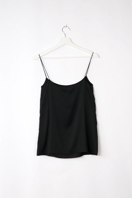 Land of Women Silk Circle Camisole - BLACK