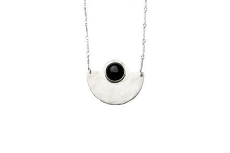 Isobell Designs Moon Rise Necklace Onyx