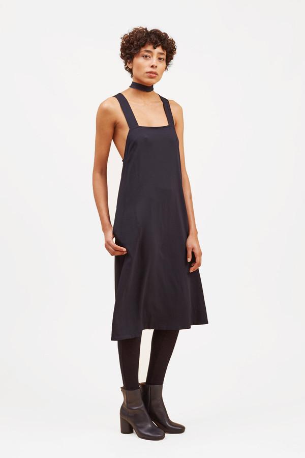 34c78ba34c8 Waltz Studio Pinafore Dress – Midnight   Garmentory