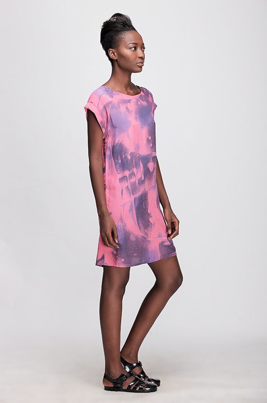 Osei-Duro Deni Raglan Dress in Lava