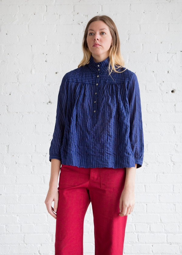 b3cd9dafcb5a6 Horses Atelier High Collar Blouse Japanese Pinstripe. sold out. Horses  Atelier