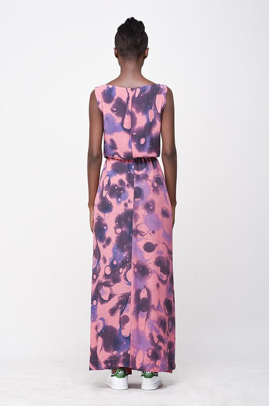 Osei-Duro Guise Maxi Dress in Lava
