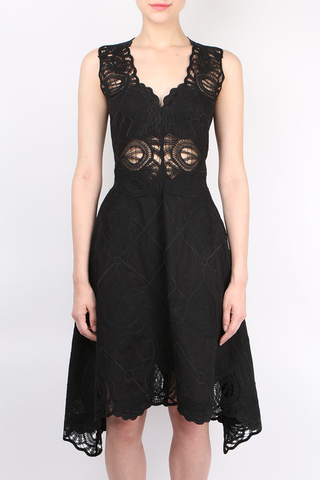 Jonathan Simkhai Crochet Embroidered Dress - Black