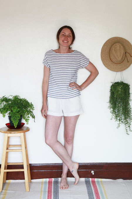 Me & Arrow Shorts - Ivory  Cotton