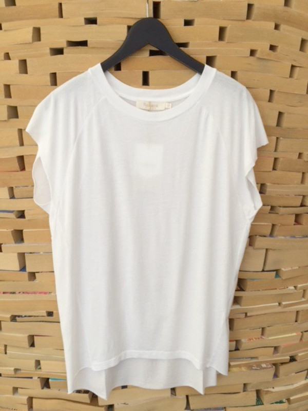 150db19a Rabens Saloner | Dora Inverted T-shirt in White | Garmentory