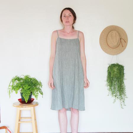 Me & Arrow Strap Dress Olive Cotton