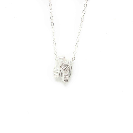 Wolf Circus Pyrite Necklace Silver