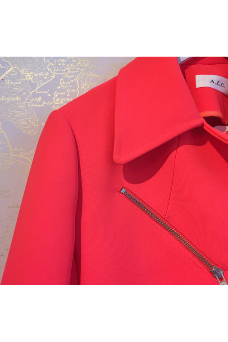 A.L.C. Ekberg Double Face Scuba Knit Moto Jacket