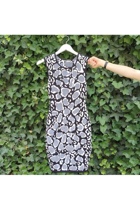 Ohne Titel Leopard Print Reversible Knit Dress
