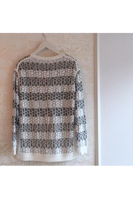 10 Crosby by Derek Lam Striped Jacquard Sweater