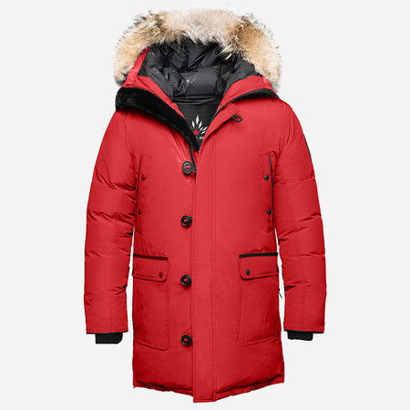 Arctic Bay Alaska Long Parka - Red