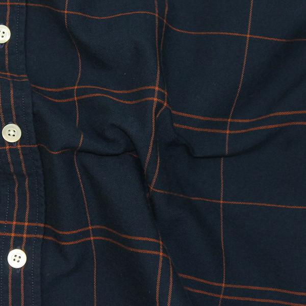 Portuguese Flannel Cana Long-Sleeve Shirt - Navy Plaid