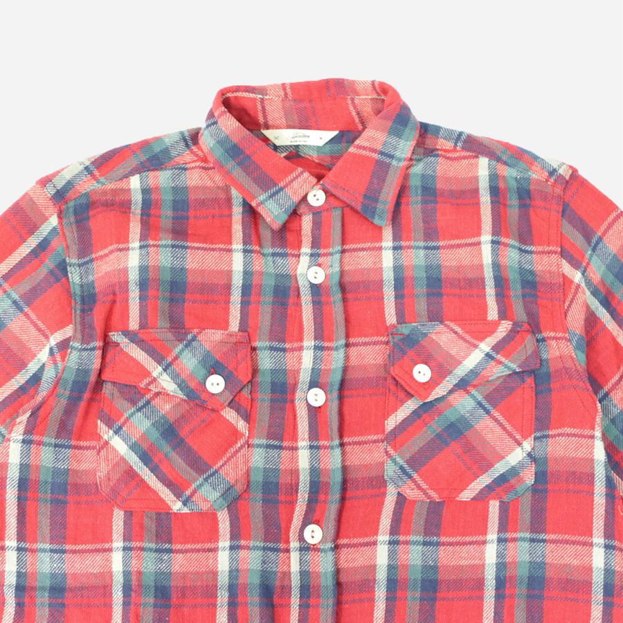 3sixteen Crosscut Flannel Shirt Red Blue Check Garmentory