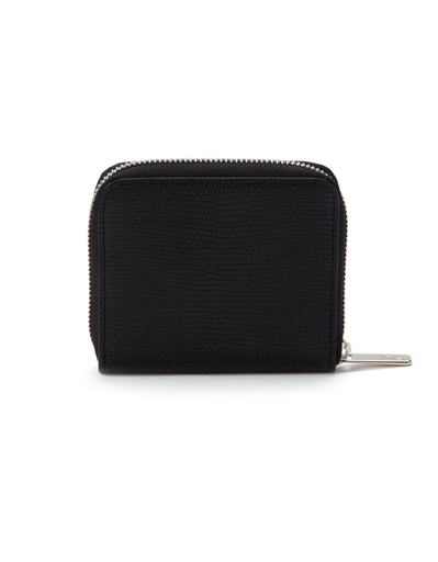 J'apostrophe Black Textured Small Wallet