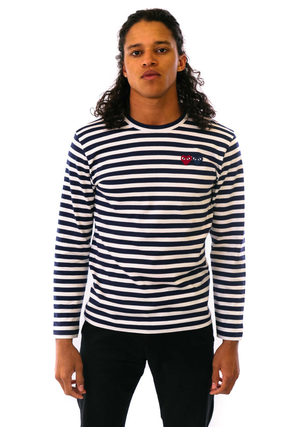 5381b8bd9672a Comme des Garçons-PLAY Striped LS Shirt Double Heart