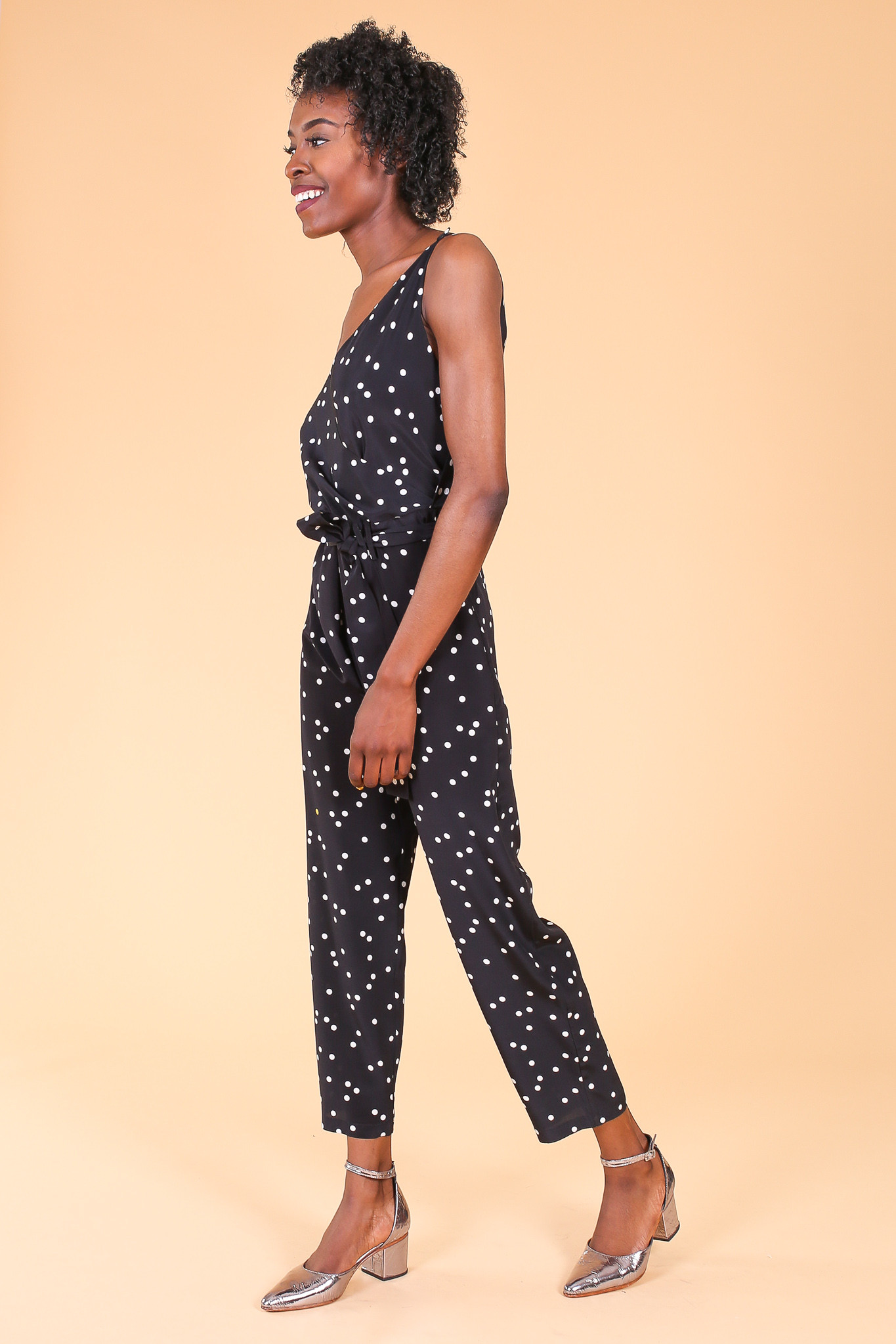 36 Items of black and white polka dot jumpsuit. Quick Shop. Holiday Polka Dots Spaghetti Shirred Jumpsuit. $ Quick Shop. Lapel Chiffon Bow Casual Polka Dots Jumpsuit. $ Black-white Polka Dots Holiday Pleated Halter Swing Paneled Midi Dress. $ Quick Shop.