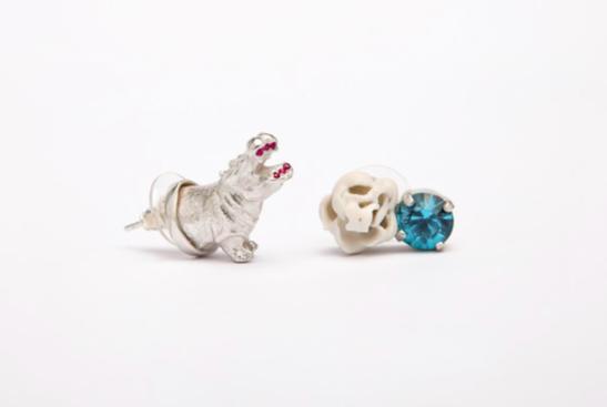 Mirit Weinstock Treasure Earrings Set Hippo