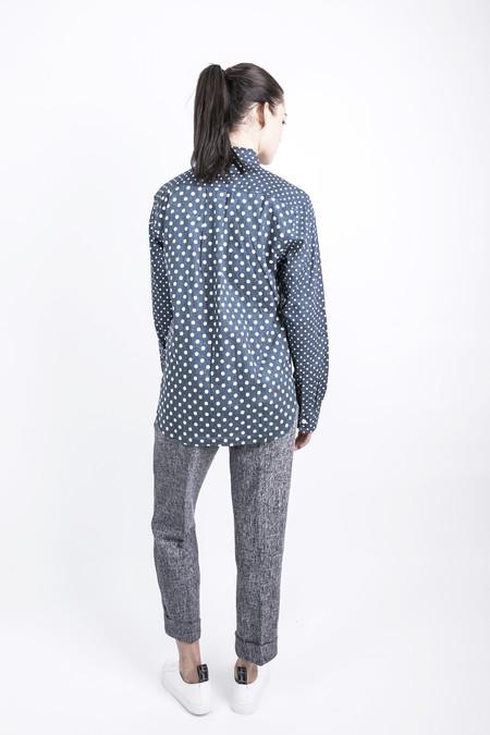 Unisex Wisdom Apparel Spliced Polka Dot Shirt - Blue