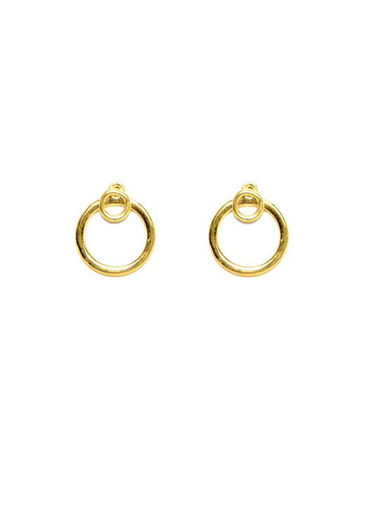 A Peace Treaty Wesa Stud Earrings in Gold Plated Brass