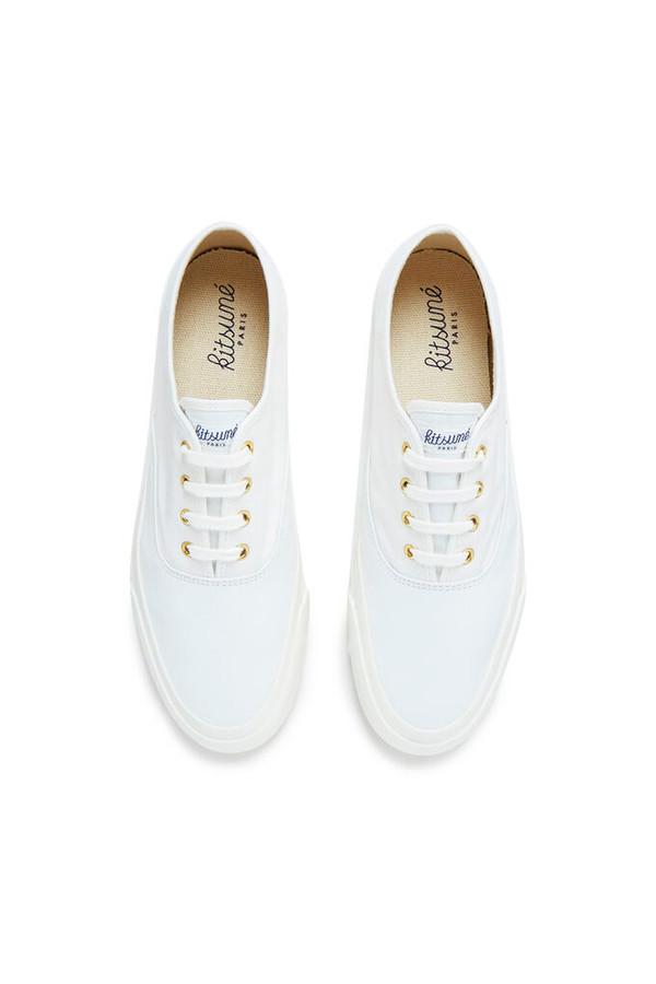 Maison Kitsune Canvas Sneakers - White
