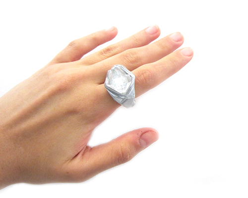Adina Mills Intuit Ring with Apophyllite