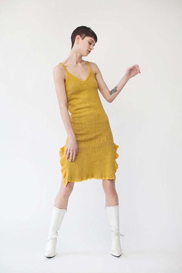 Maria Dora Cami Ruffle Dress
