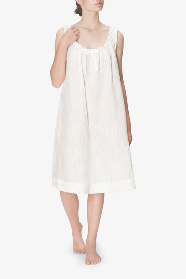 4921618ec3 The Sleep Shirt Sleeveless Nightie White Tuscan Linen