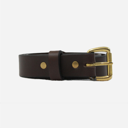 Apogee Daily 11oz Leather Belt - Brown/Brass