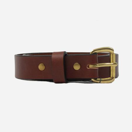 Apogee Daily 11oz Leather Belt - Chestnut/Brass