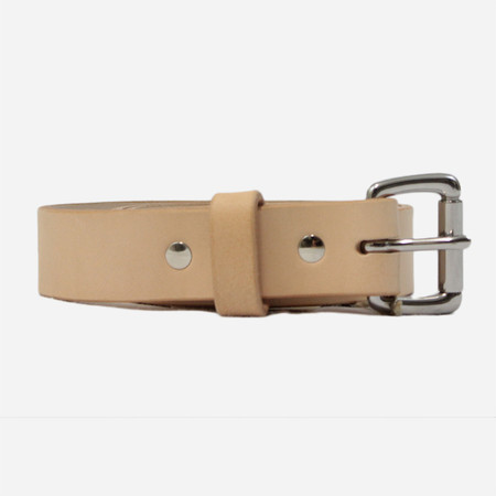 Apogee Daily 11oz Leather Belt - Vegetable Tanned Natural/Stainless Steel