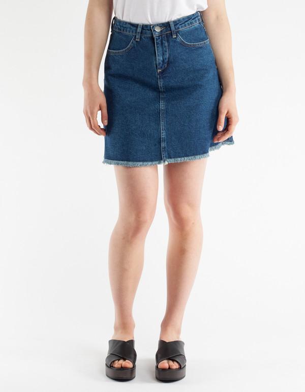 just tom denim skirt blue rinse garmentory