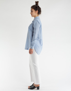 Neuw Classic Denim Shirt Bleached Indigo