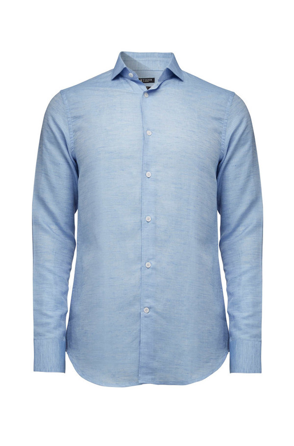 a0ed932e3e3 Tiger of Sweden Farrell 5 Linen Shirt - Dust Blue | Garmentory