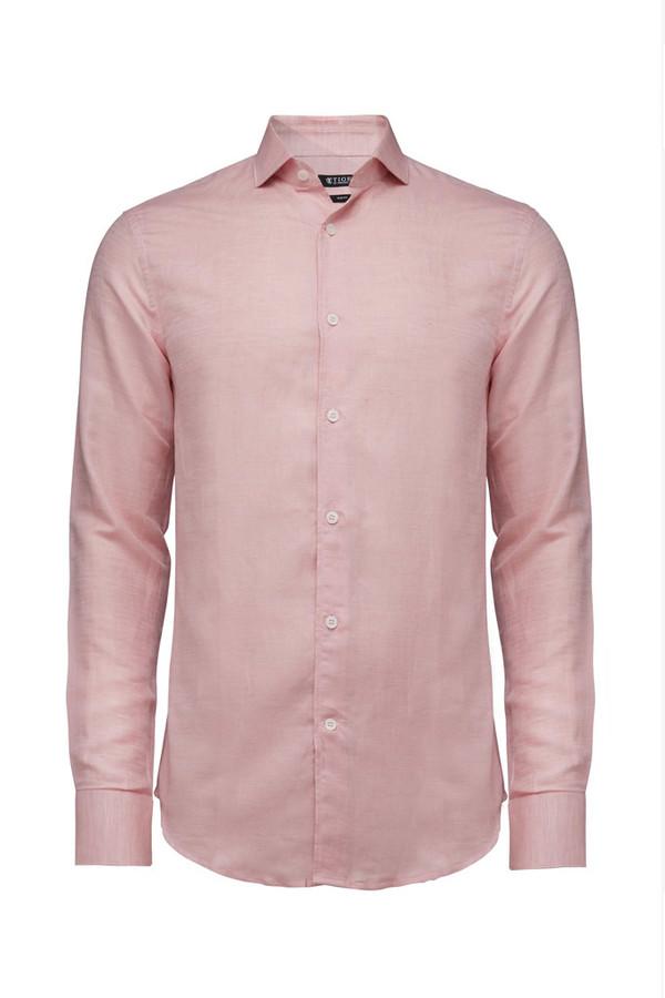 Tiger of Sweden Farrell 5 Linen Shirt - Powder Pink | Garmentory