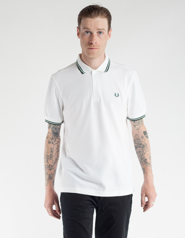 fred perry slim fit twin tipped polo white ivy garmentory. Black Bedroom Furniture Sets. Home Design Ideas