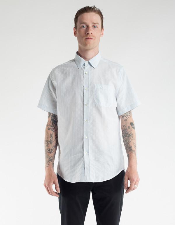 Portuguese Flannel Colonial Short Sleeve Shirt Sky Garmentory