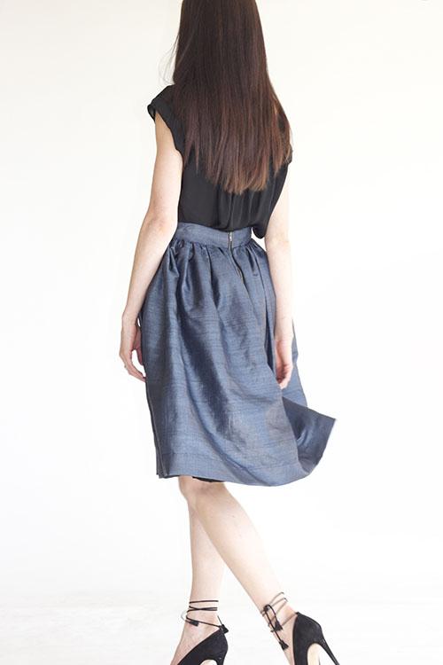 Heidi Merrick Albright Skirt (Navy)