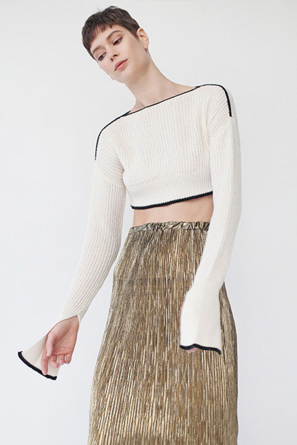 Maria Dora Knit Cropped Sweater