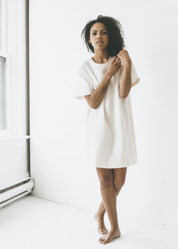 ea09e9f425b ... Linen T-Shirt Dress. sold out. Lloyd