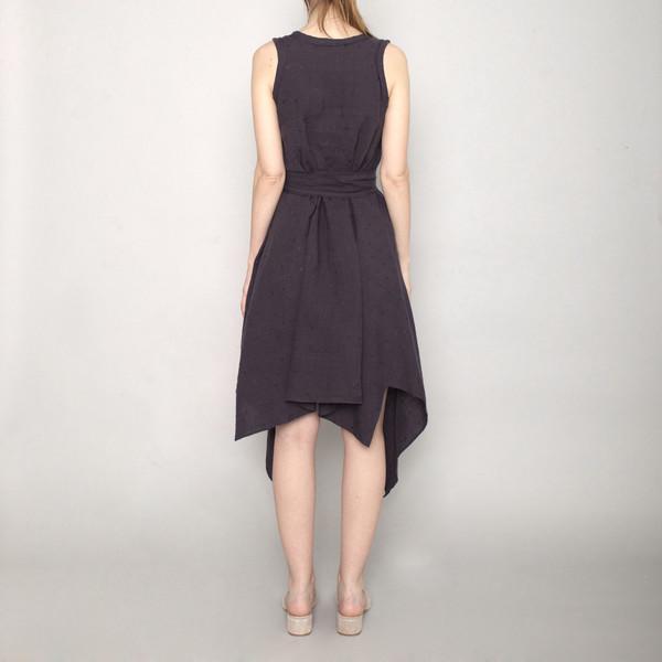 7115 By Szeki Handkerchief Dress Navy Ss17 Garmentory