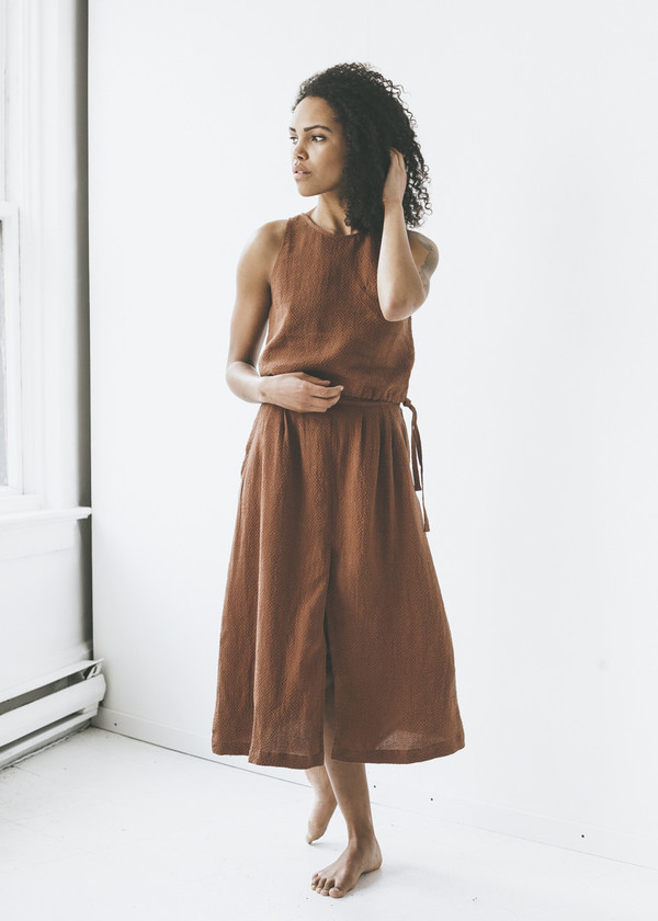 1ee3e98059 First Rite - Pleated Skirt in Clay | Garmentory