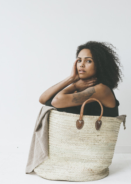 C+L Finds Super Size French Market Tote - Natural