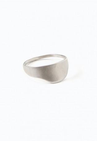 Faris Silver Lunar Ring