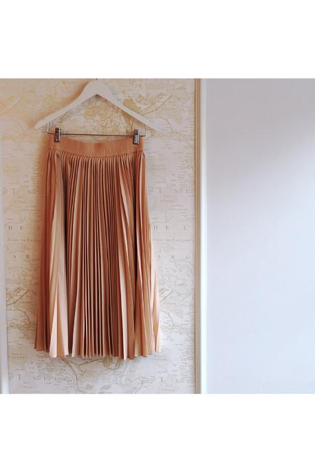 10 Crosby by Derek Lam Pleated Silk Midi Skirt